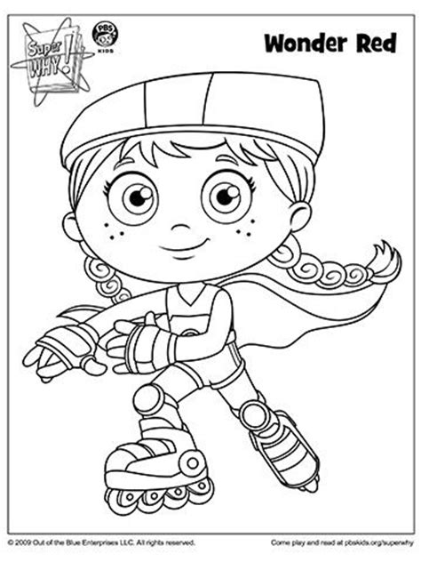 Super Why Coloring Book Pages From Pbs Why Coloring Pages To Print