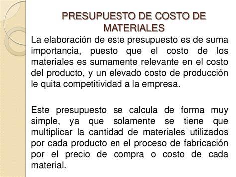clase 4 presupuesto de materia prima compras e presupuesto relacionados con la produccion