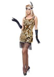 20s Halloween Costume Black Gold Sequin Flapper Costume