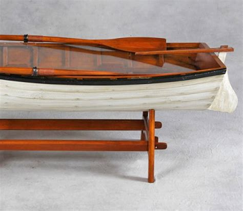 Boat Coffee Table Vintage Row Boat Coffee Table