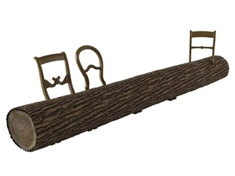 tree trunk benches tree trunk bench 3d model droog