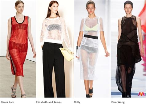 Summer 08 Trends Sheer Fabrics by Summer Fashion Trends 2014 Mesh Fabric And Sheer Elements