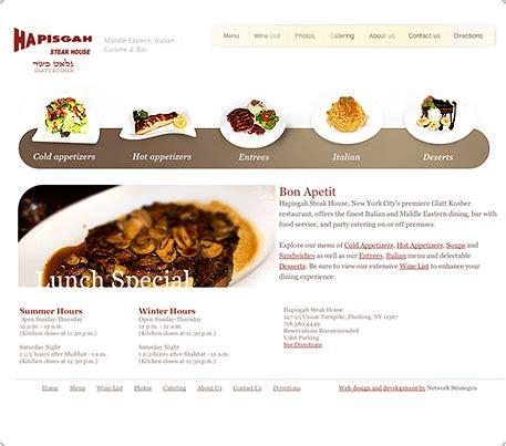 design restaurant online restaurant website design