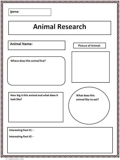 Common Core Animal Research Graphic Organizer The