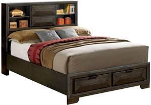 King Platform Storage Bed Nikomedes Espresso King Platform Storage Bed From Furniture Of America Coleman Furniture