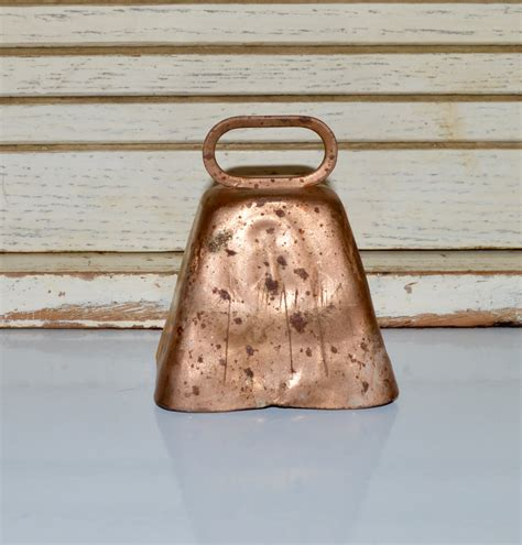 copper decor etsy copper cow bell home decor rustic copper decor bells home