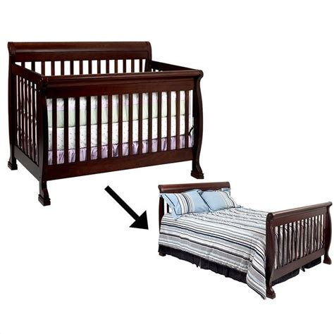Crib Convertible To Bed davinci kalani 4 in 1 convertible crib with bed rails