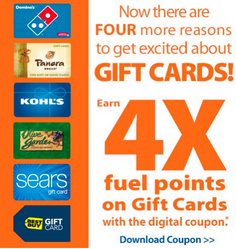 Frys Gift Cards - fry s earn 4x fuel points with participating gift card purchase 3 days only