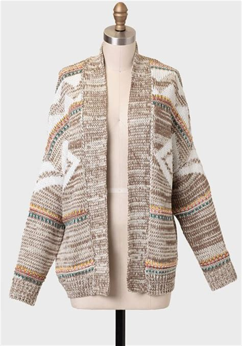 tribal pattern cardigan sweater sweater cardigan aztec tribal pattern knit wheretoget
