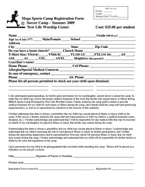 soccer registration form template soccer c registration form template fill