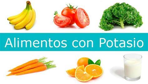 alimentos con alto contenido de potasio listado de alimentos ricos en potasio alimentosricosen
