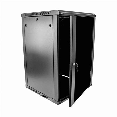 18u wall mount network server data cabinet 24 inch depth