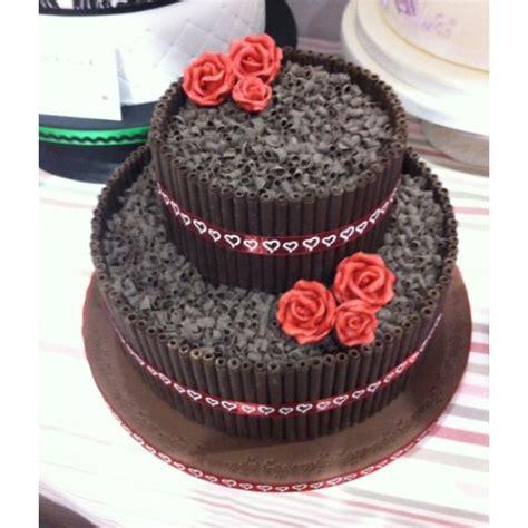 Chocolate Wedding Cake Designs by Choco Cigarello Designer Chocolate Cake 3kg