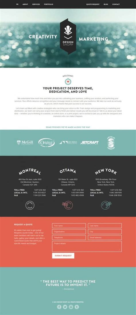 corporate layout design inspiration web design company web design and montreal on pinterest