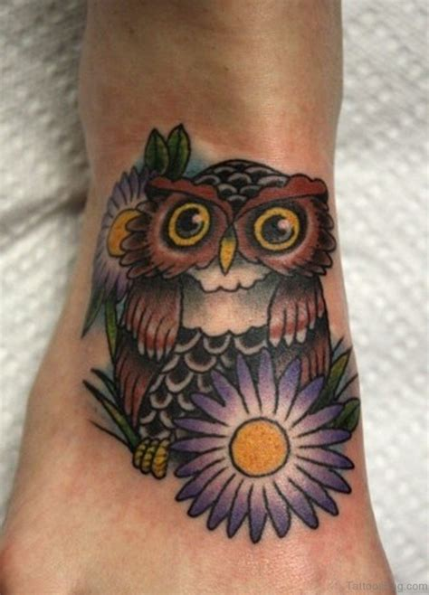55 impressive owl tattoos on foot
