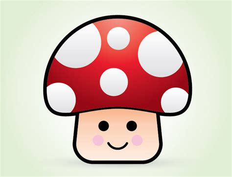 illustrator tutorial drawing cartoon how to create a cute vector mushroom character