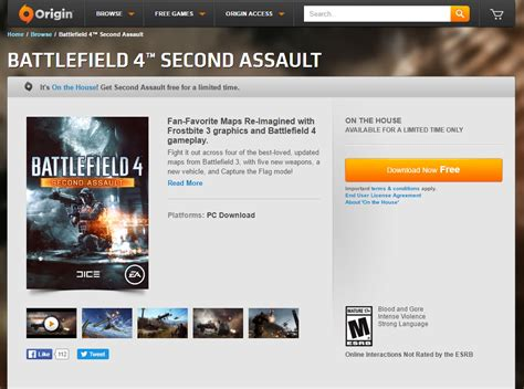 origin on the house battlefield 4 second assault expansion pack free simsvip