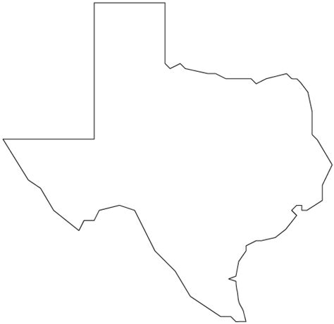 texas map shape outline of texas clipart best