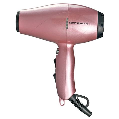 Hair Dryer Light silver bullet 45 professional hair dryer light pink home hairdresser