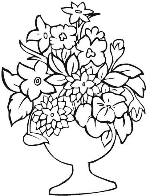 vasi di fiori da colorare disegni vasi di fiori per bambini 24