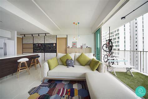 balcony living room design renovation ideas for homes 100 square metres weekender singapore