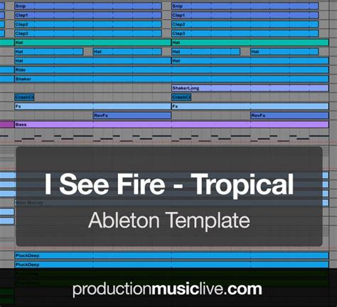 I See Fire Tropical House Ableton Template Pml Future Bass Ableton Template Free