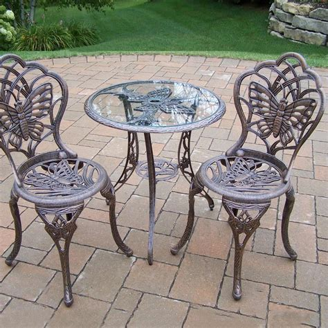 oakland living butterfly 2 person cast aluminum patio