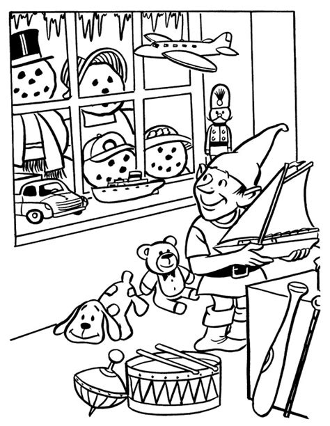 elves workshop coloring pages printable christmas coloring page elf in workshop