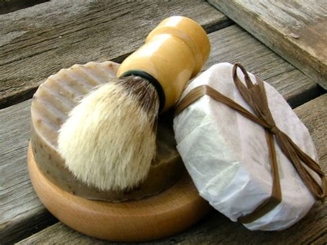 Handmade Soap Kits - wooden mens kit handmade soap brush