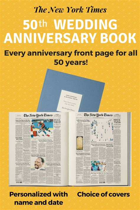 Wedding Anniversary Ideas New York by 50th Wedding Anniversary Gifts Best Gift Ideas For A