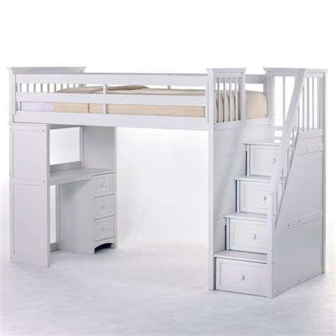 Frise Chambre Bébé 7095 by Schoolhouse Stairway Loft Bed White Loft Beds At