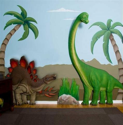 dinosaur decorations for bedrooms add dimension and color to your home with 3d wall art