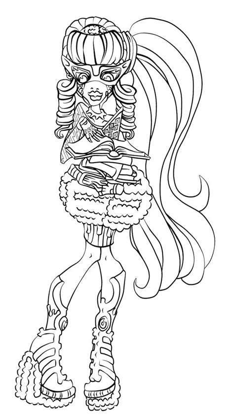 monster high coloring pages ghoulia yelps ghoulia yelps ghouls rule coloring page printables for
