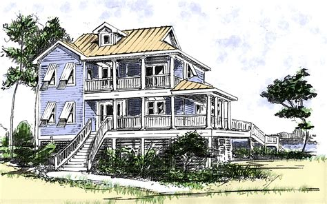 beach house home plans beach house plan with two story great room 13034fl 1st