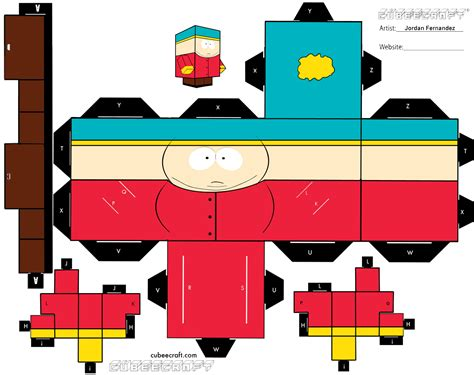 South Park Papercraft - cartman cubee by jordof131 on deviantart