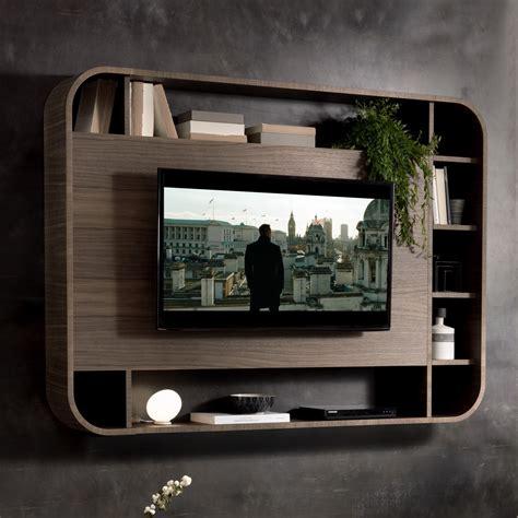 libreria con tv porta tv a parete vision con libreria arredaclick