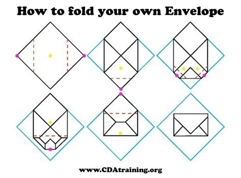 Fold A Of Paper Into An Envelope - origami fold your own envelopes crafthubs folding
