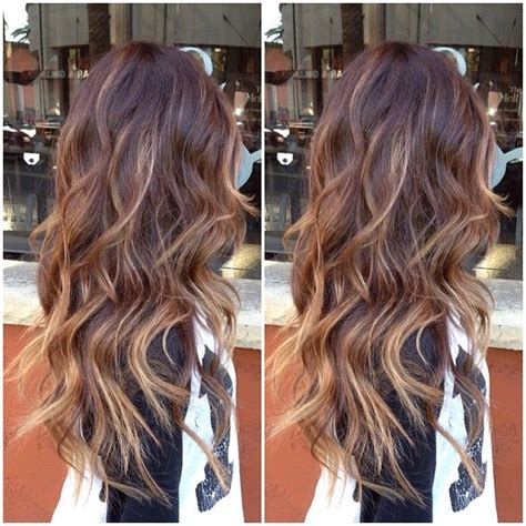 coloring over ombre hair full balayage highlights over an ombre images frompo