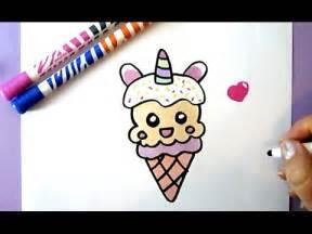 comment dessiner un glace licorne kawaii dessin kawaii