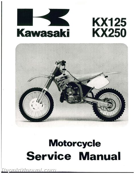 Kawasaki Motorcycle Service by 1992 1993 Kawasaki Kx125 Kx250 Motorcycle Service Manual