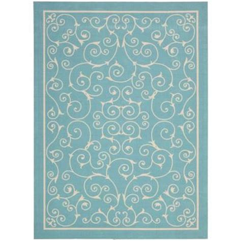 10x13 Outdoor Rug Nourison Home And Garden Pavilion Light Blue 10 Ft X 13 Ft Indoor Outdoor Area Rug 112002