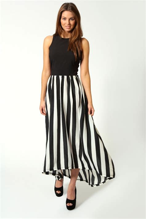 Dress Monocrome Maxi monochrome contrast top maxi dress 163 30 gt gt http www boohoo restofworld clothing new