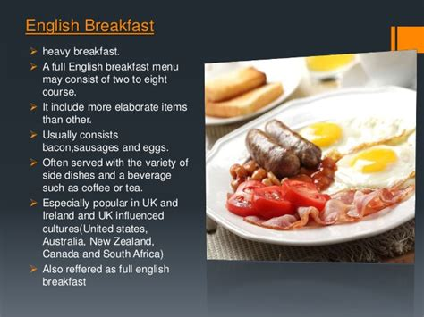 cover layout for english breakfast types of meals and cover slide