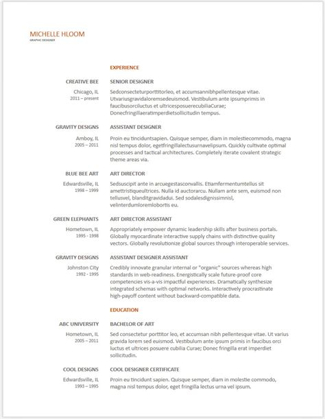 Resume Templates Docx doc resume