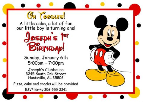 mickey mouse birthday invitation card template 5 best images of mickey mouse free printable stationary