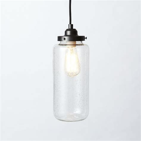 glass jar pendant west elm