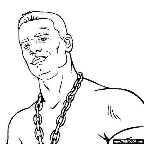 wwe coloring pages john cena images