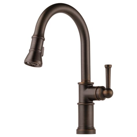 buy brizo 63025lf single handle pull down kitchen faucet at discount price at kolani kitchen single handle pull down kitchen faucet 63025lf rb