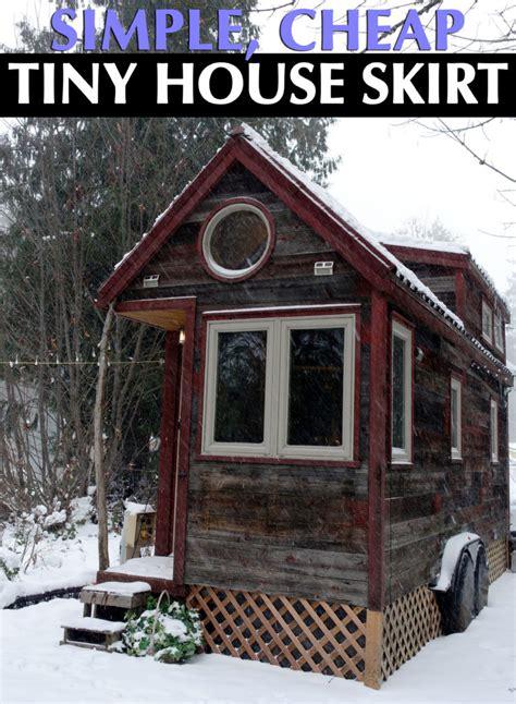 house skirt tiny house skirt a simple diy option for under 100