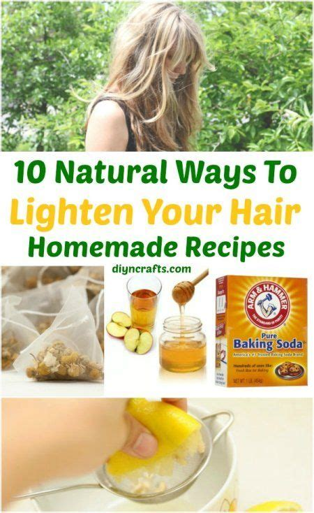 homemade thickening hair recipes 10 ways to lighten your hair naturally homemade recipes